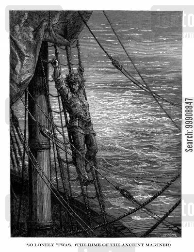 ancient mariner cartoon humor: So Lonely 'Twas (The Rime of the Ancient Mariner).