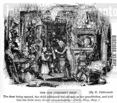 cluttered cartoon humor: The Old Curiosity Shop