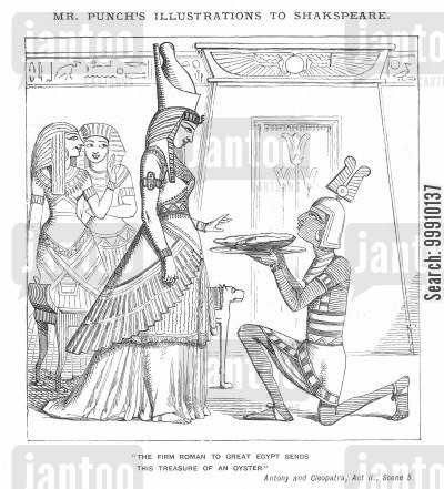 cleopatra cartoon humor: Mr. Punch's Illustrations to Shakspeare