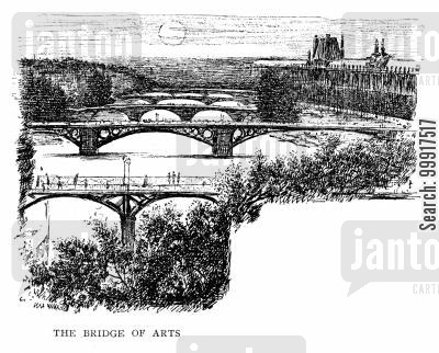 bridge of arts cartoon humor: The bridge of arts.