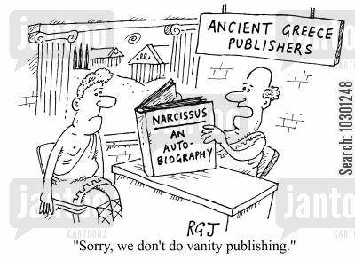 anachronisms cartoon humor: Sorry. we don't do vanity publishing.