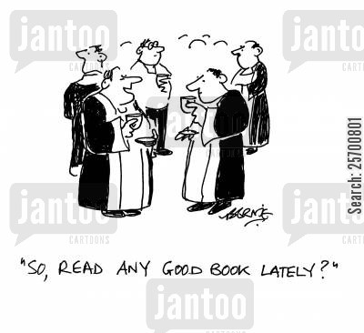readings cartoon humor: 'So, read any good book lately?'
