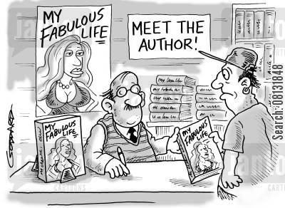 celebrities cartoon humor: 'Meet the Author!'