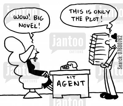 publishing agencies cartoon humor: Aspiring author