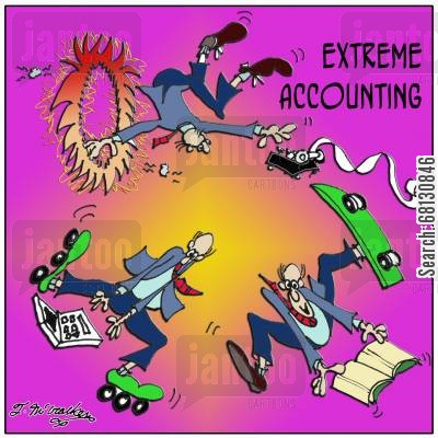 business accounts cartoon humor: Extreme Accounting!