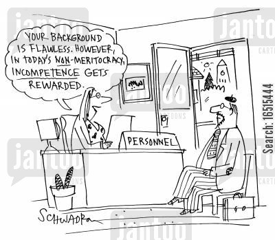 backgrounds cartoon humor: 'Your background is flawless. However in today's non-meritocracy incompetence gets rewarded.'