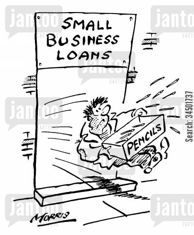 distrustful cartoon humor: Small Business Loan of Pencils