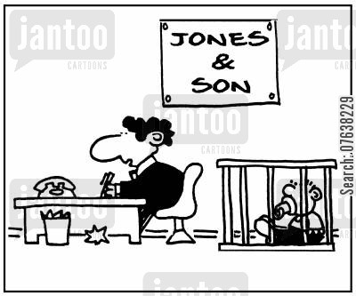 family company cartoon humor: 'Jones and Son.'