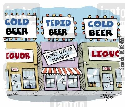 tepid cartoon humor: Tepid Beer - Going out of Beer.