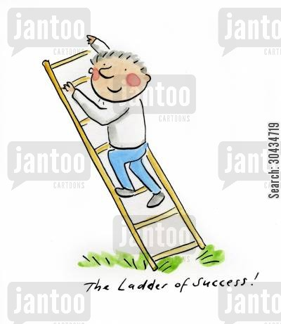 bees ladder cartoon humor: The Ladder of Success!