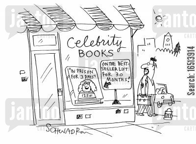 famously cartoon humor: Celebrity Books.