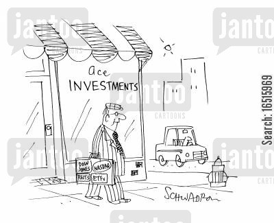 sticker cartoon humor: Investments.