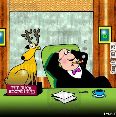 the buck stops here cartoon humor: The buck stops here