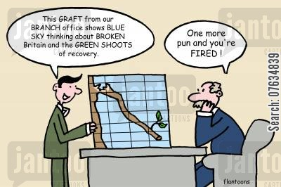 grafts cartoon humor: One more pun and you're FIRED!