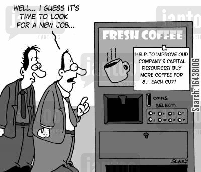 job market cartoon humor: 'Well... I guess it's time to look for a new job...'