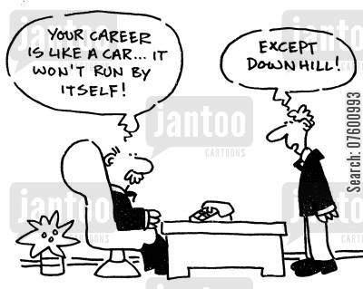 career advisers cartoon humor: Career advice from the boss