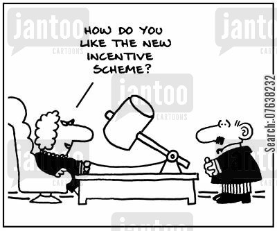 motivators cartoon humor: 'How do you like the new incentive scheme?'
