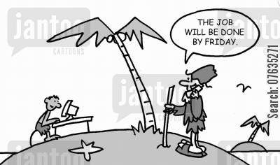 man friday cartoon humor: The job will be done by Friday.