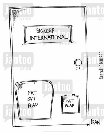 catflap cartoon humor: Fat Cat Flap