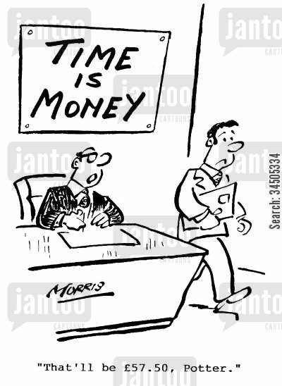 profit making scheme cartoon humor: That'll be �57.50, Potter.