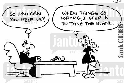 business crisis cartoon humor: 'So how can you help us?'