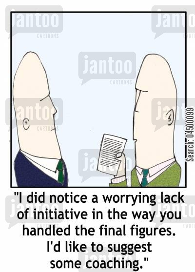 book keeping cartoon humor: 'I did notice a worrying lack of initiative in the way you handled the final figures...'