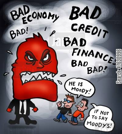 banking crisis cartoon humor: Agency Moody's comments