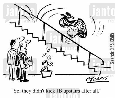 demoting cartoon humor: So, they didn't kick JB upstairs after all.