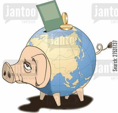 financial markets cartoon humor: World economy