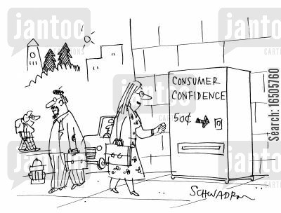 economic indicators cartoon humor: Consumer Confidence 50c