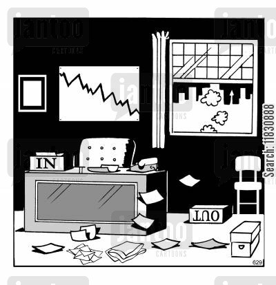 falling profit cartoon humor: InOut.