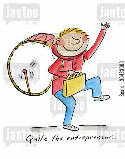 entreprener cartoon humor: Quite the entrepreneur...