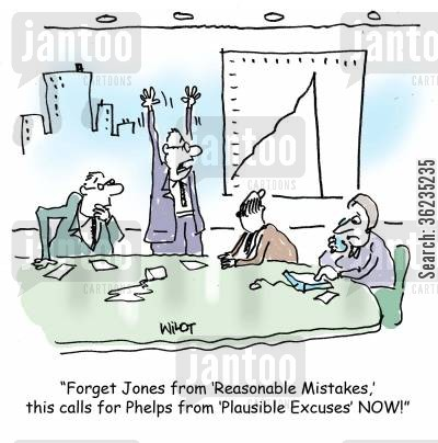 spend money cartoon humor: Forget Jones from Reasonable Mistakes, this calls for Phelps from Plausible Excuses NOW!