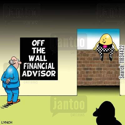 off the wall cartoon humor: Off the wall financial adviser.
