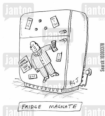 fridge magnet cartoon humor: Fridge Magnate.