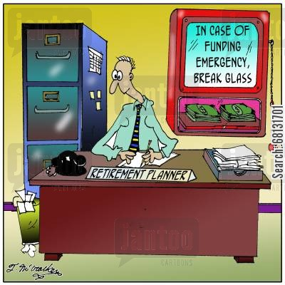 funding emergencies cartoon humor: In Case of Funding Emergency, Break Glass.