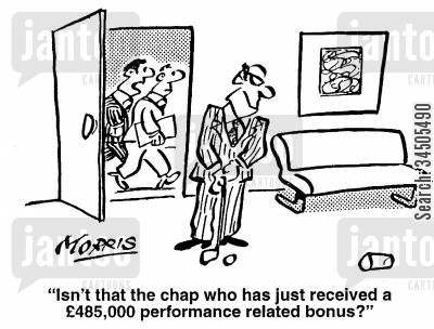 golf practise cartoon humor: Isn't that the chap who has just received a �485,000 performance related bonus?