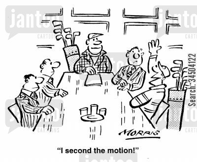 disinterested cartoon humor: I second the motion!