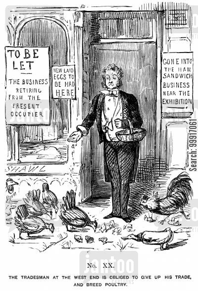 great exhibition 1851 cartoon humor: Memorials of The Great Exhibition - 1851. No. XX