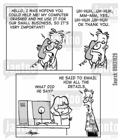 business for self cartoon humor: Home Business - Computer.