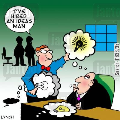 eureka moments cartoon humor: Ideas Man