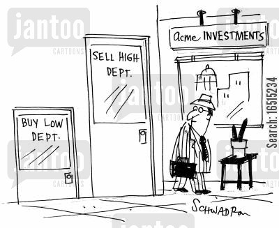 economist cartoon humor: Investments.