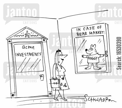 economic downturn cartoon humor: In case of bear market