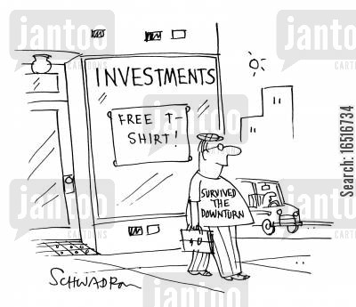 free gift cartoon humor: Investments - Free T-Shirt!