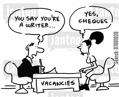 job centers cartoon humor: Job applicant