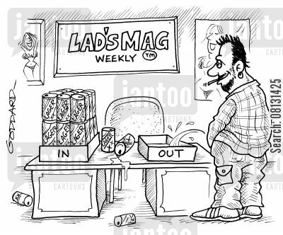 lads mags cartoon humor: Lad's Mag Weekly.