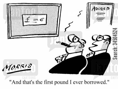 tokens cartoon humor: And that's the first pound I ever borrowed.