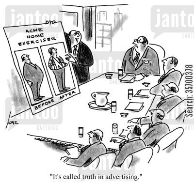 home gym cartoon humor: 'It's called truth in advertising.'