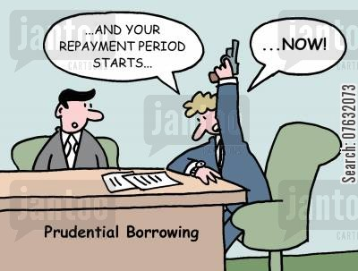 pay back cartoon humor: And your repayment period starts...Now!