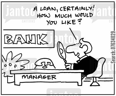 lent cartoon humor: A loan, certainly! How much would you like?